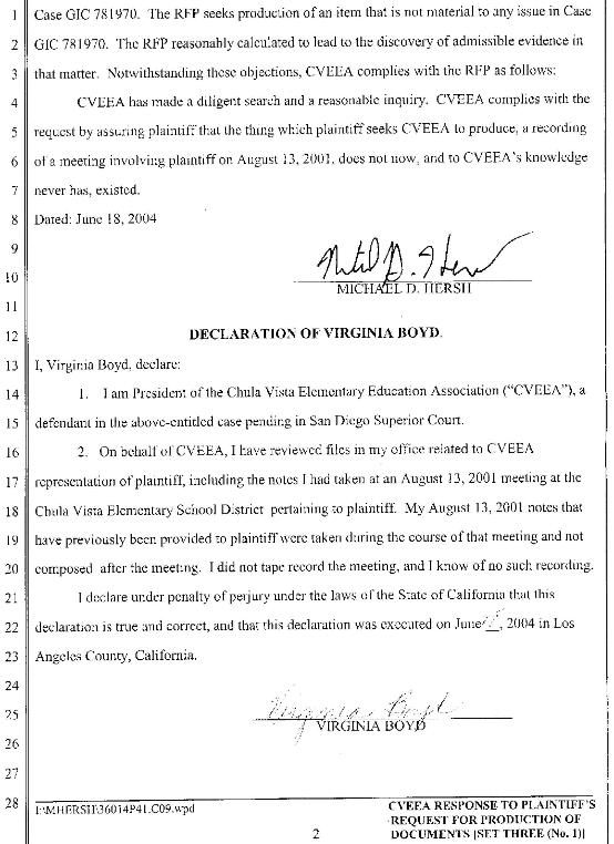 statement california defendant