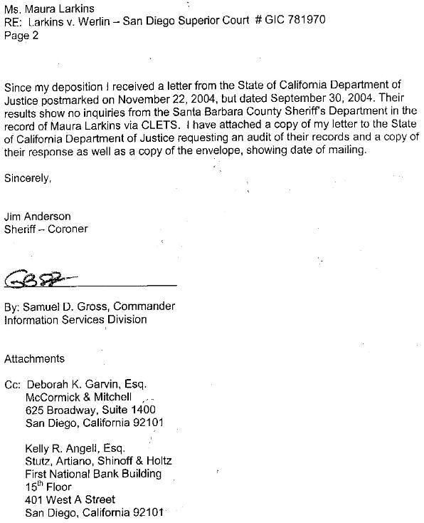 Perjury complaint against Santa Barbara Sheriff's Deputy
